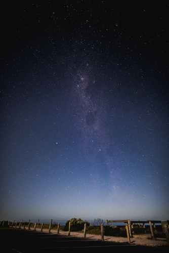 The milky way at the beach