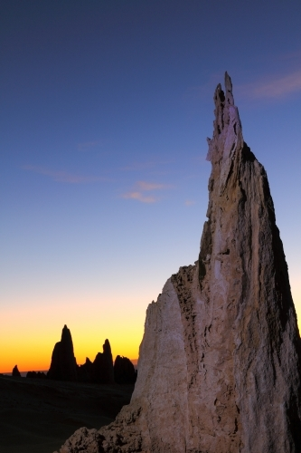 A light-painting of The Pinnacles, Western Australia.