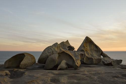 The Remarkable Rocks by the sea at Twilight