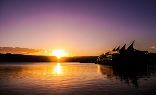 The Sails Waterfront at Gosford during Sunset