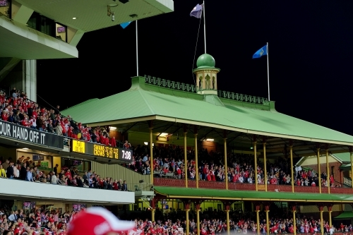 The Sydney Cricket Ground Ladies Pavilion during a Sydney Swans game