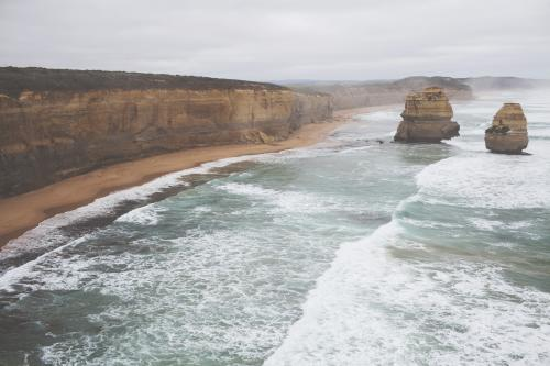 The Twelve Apostles on an overcast day