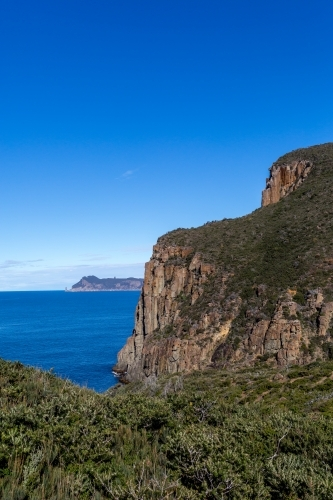 The view from Tasmania's Cape Hauy on the Three Capes Track towards Tasman Island