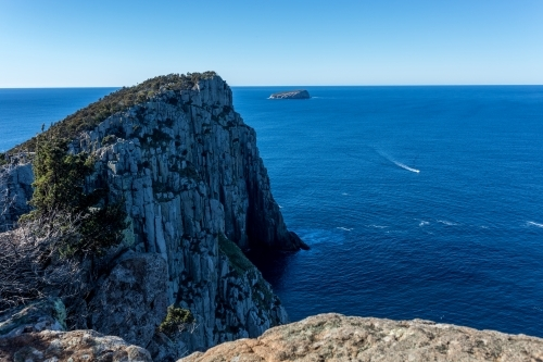 The view from Tasmania's Cape Hauy on the Three Capes Track towards the Tasman Sea