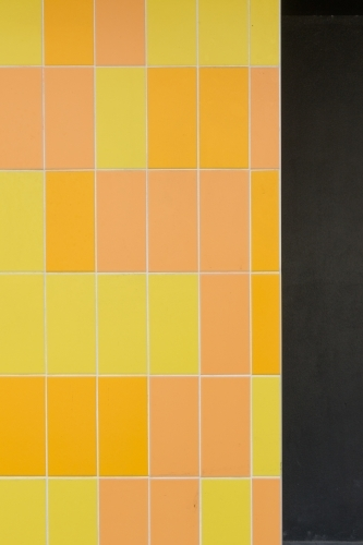 Tones of Yellow and Orange vertical tiling