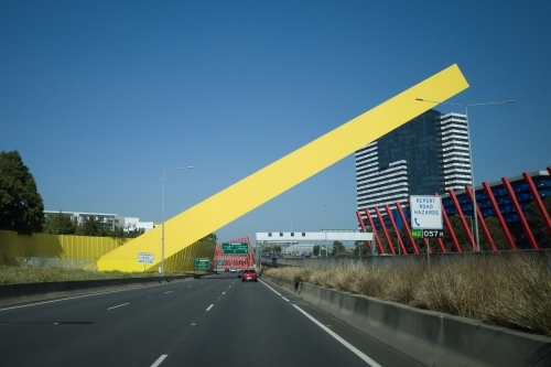 Travelling into Melbourne on the Citylink road