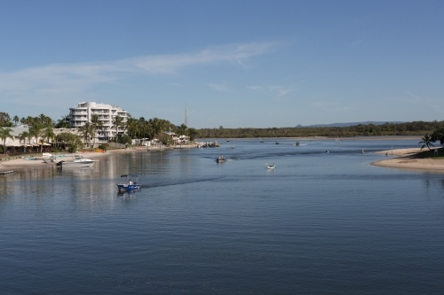 Urban development along the Noosa River