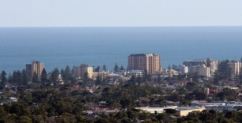 View from Adelaide foothills to the Bay