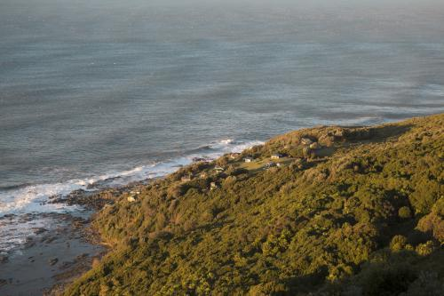 View from lookout of coastal landscape