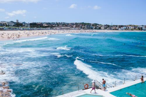 View of Bondi Beach from Icebergs