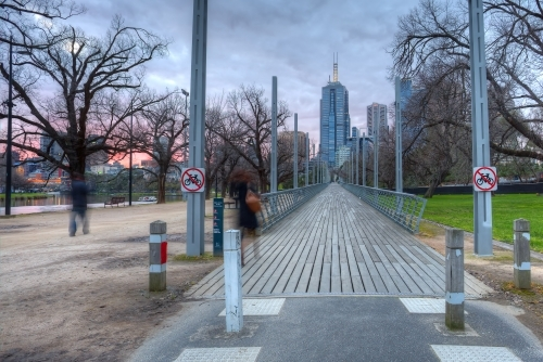 View of Melbourne from Birrarung Marr