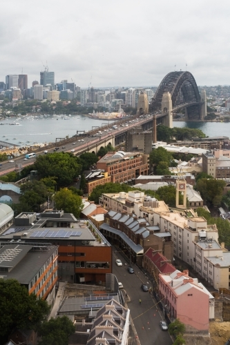 View of Sydney Harbour Bridge and the Rocks