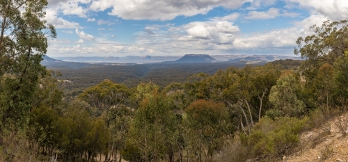 View of the Gardens of Stone National Park from Capertee lookout