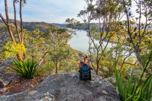 Views over river from the Australian bushland