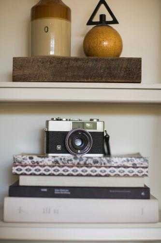 vintage camera on shelf