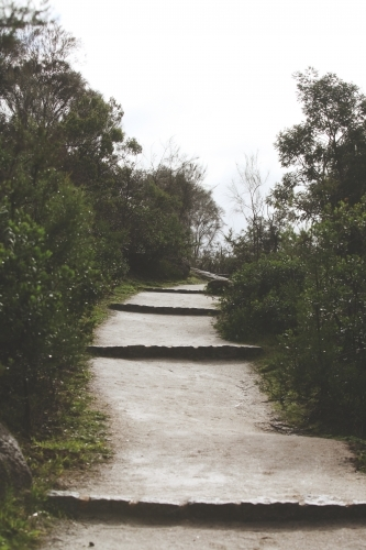 Walking path and steps to the beach