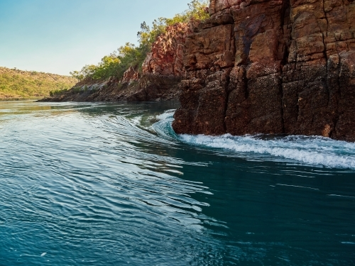 Water Rushing through Gap in McLarty Range, Horizontal Falls in the Buccaneer Archipelago