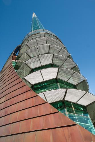 Loooking up the side of the Perth Bell Tower