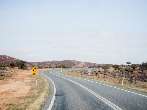 Winding Road to Broken Hill