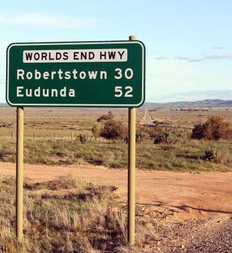 Worlds end highway signpost
