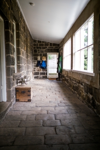 Country entrance hall made of bluestone