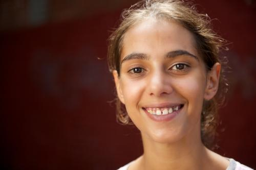 Young Aboriginal Woman Smiling Broadly